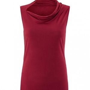 CABI CUTE TEE - RUBY RED - ASSYMETRICAL - XL - NEW